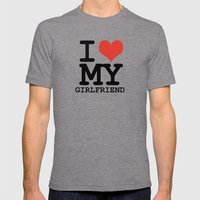 I Love My Girlfriend Mens Fitted Tee Tri-Grey SMALL