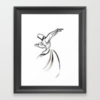 Sufi Meditation Framed Art Print