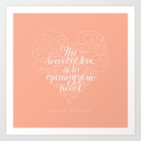 Secret Of Love Art Print