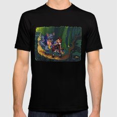 Little Red Riding Hood Black SMALL Mens Fitted Tee
