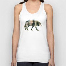 Wolf is the Pride of Nature Unisex Tank Top