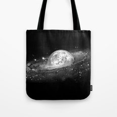 Moon and Galaxy Tote Bag