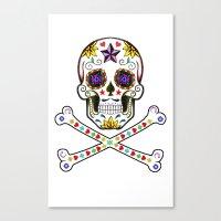 Sugar Skull & Cross Bones Canvas Print