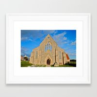 Church With No Roof Framed Art Print