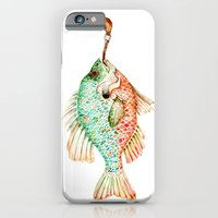 iPhone & iPod Case featuring River Sunfish with a Pipe by Goosi