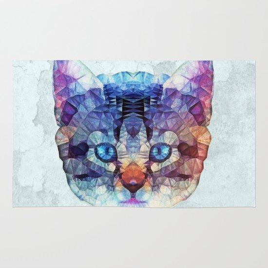 abstract kitten Area & Throw Rug