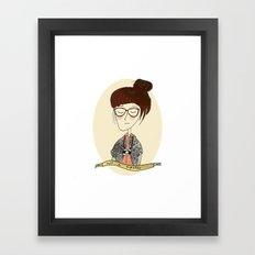 not a hipster Framed Art Print