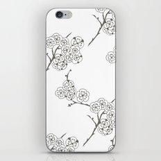 Japanese Trees ( Japan, Asia, Black-White, Delicate, Elegant print ) iPhone & iPod Skin
