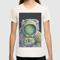 Astronaut Womens Fitted Tee Natural SMALL