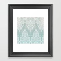 Lace & Shadows - Soft Sa… Framed Art Print