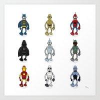 Bender Meets - Series 1 Art Print