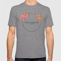 Floral - Ladies Mens Fitted Tee Tri-Grey SMALL