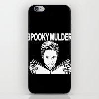 Spooky Mulder (black) iPhone & iPod Skin