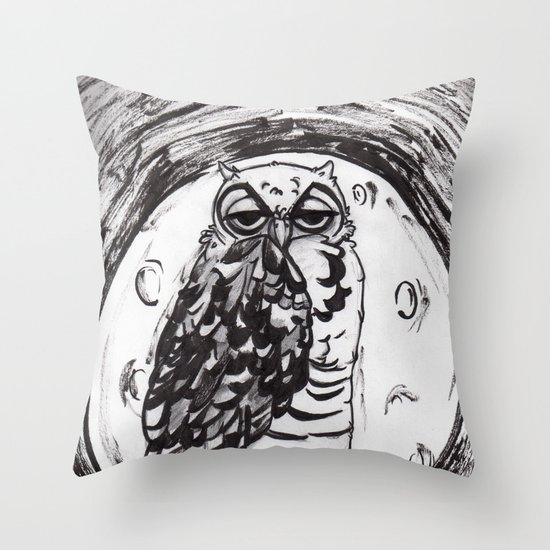Night Owl v.1 Throw Pillow