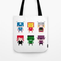 Pixel Avengers Tote Bag