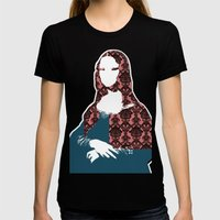 Mona Lisa SW+C X2 Womens Fitted Tee Black SMALL