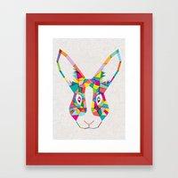 Rainbow Rabbit Framed Art Print