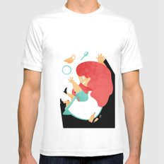 ALICE IN WONDERLAND Mens Fitted Tee SMALL White