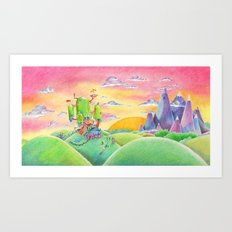 Land of Ooo Art Print
