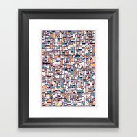 HUMAN BEINGS Framed Art Print