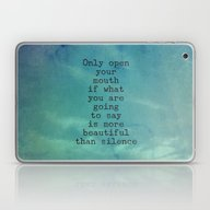 Laptop & iPad Skin featuring The Beauty Of Silence - … by Olivia Joy StClaire