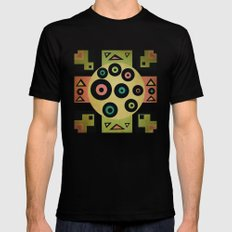 carpet pattern Black Mens Fitted Tee SMALL