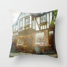 British Pub Throw Pillow