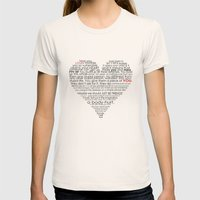 I hate love Womens Fitted Tee Natural SMALL
