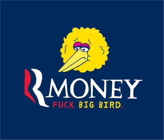 Romney VS Big Bird Art Print