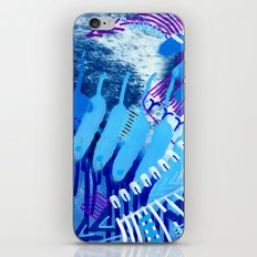Wave blue iPhone & iPod Skin