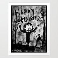 Death Boy: World Goth Day Art Print