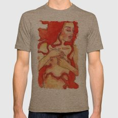 Lady in red Mens Fitted Tee Tri-Coffee SMALL
