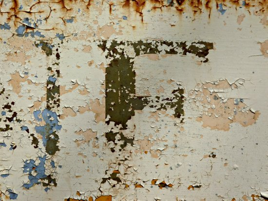 IF a Picture Paints -- Peeling Paint and Rust Texture Abstract Canvas Print