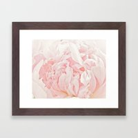Peony Heart Framed Art Print