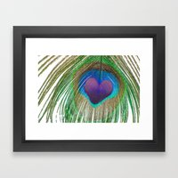 Peacock Love Framed Art Print