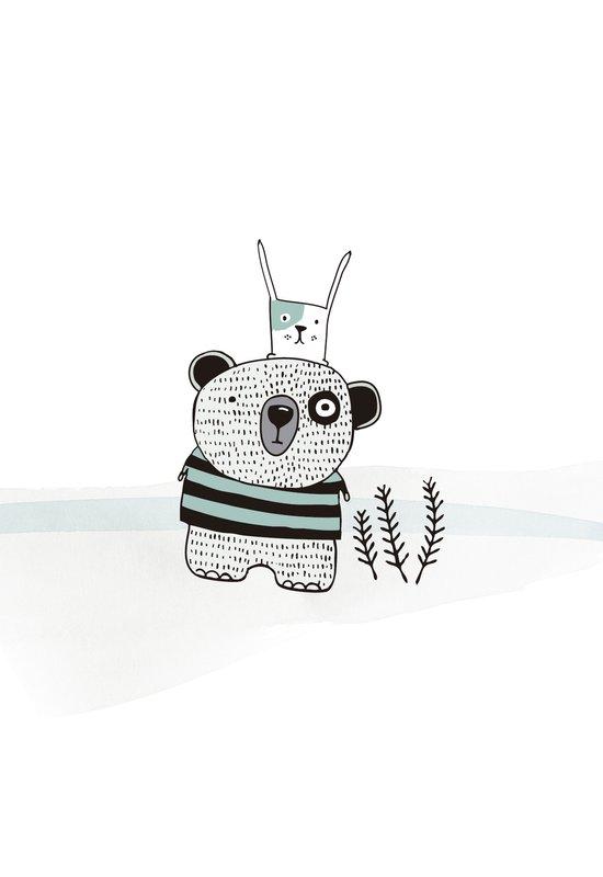 Mini bear&rabbit Art Print