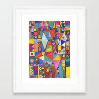 Flame Spectrum Framed Art Print