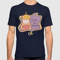 I Found My Adventurer - Princess Mens Fitted Tee Navy SMALL