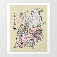 Art Print featuring si canem corvus by Eric Weiand