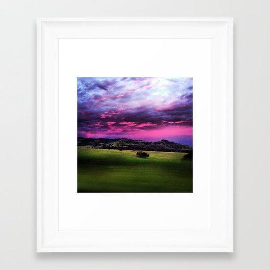 Aussie Sunset Framed Art Print