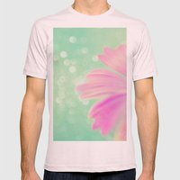 Touch the Bokeh Light Mens Fitted Tee Light Pink SMALL