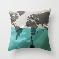 greed Throw Pillow