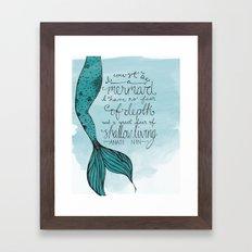 Mermaid Quote Framed Art Print