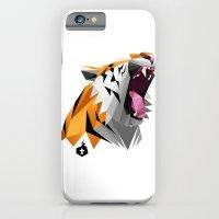 iPhone & iPod Case featuring TML polygon tiger ROAR!!! by TEMKA