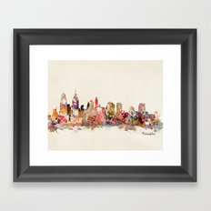 philadelphia pennsylvania skyline Framed Art Print