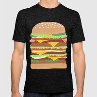 BURGER Mens Fitted Tee Tri-Black SMALL