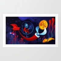 Underwater Adventure Art Print