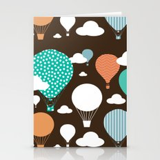 Hot air balloon chocolate Stationery Cards