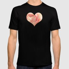 Bunch of Roses at backlight Black SMALL Mens Fitted Tee