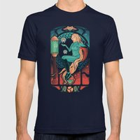 Aran Nouveau Mens Fitted Tee Navy SMALL
